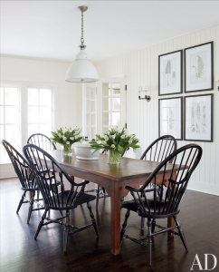 Cottonwood and Co -windsor chairs Architectural Digest