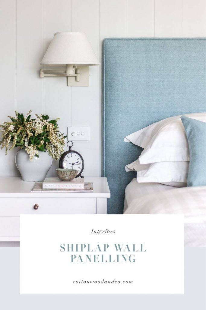 Shiplap wall panelling - Cottonwood & Co