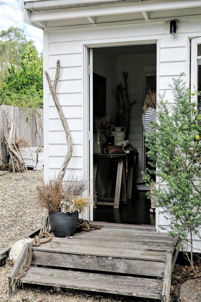 white country cottage entry
