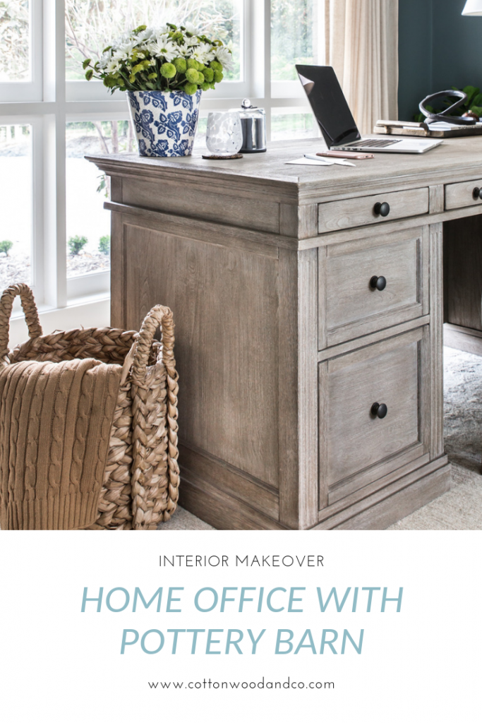 Cottonwood and Co - home office makeover with Pottery Barn