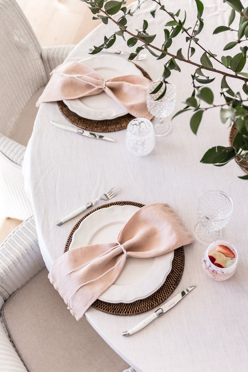 Cottonwood and Co - avocado seed dyed linen napkins