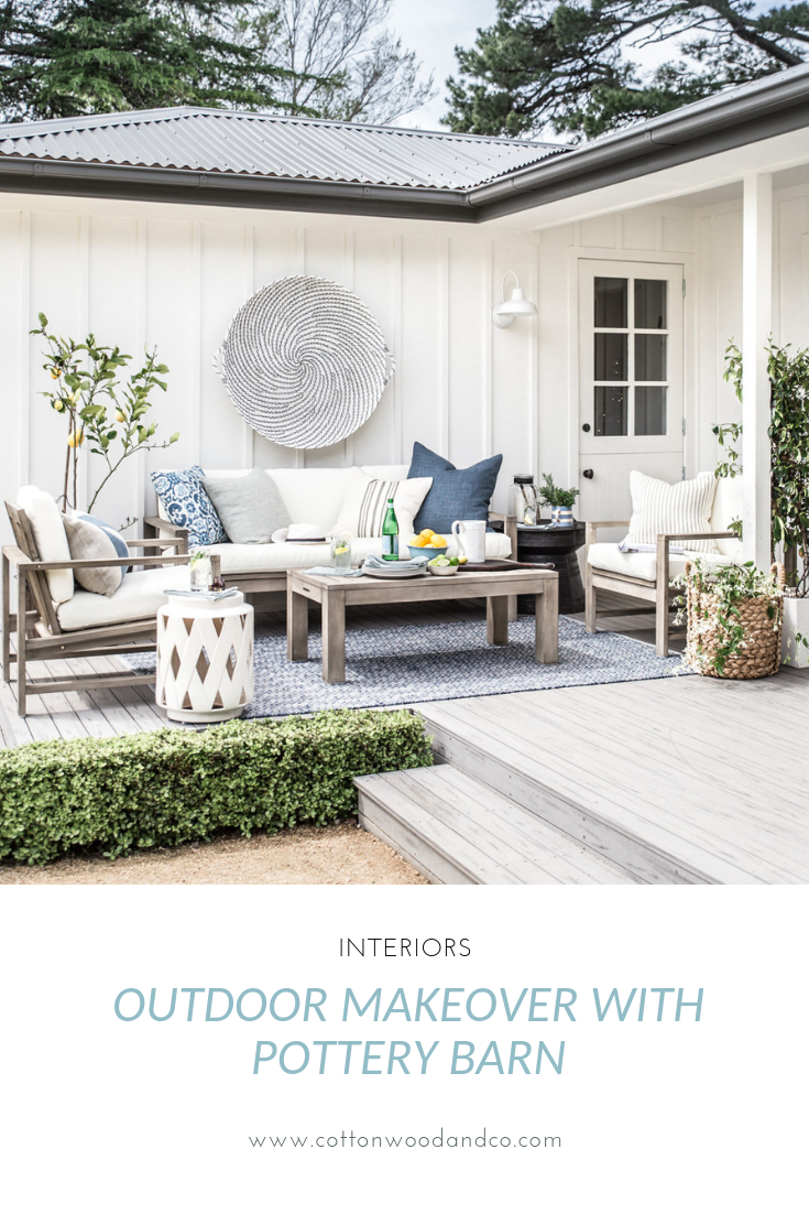 Modern farmhouse outdoor makeover with Pottery Barn - Cottonwood & Co
