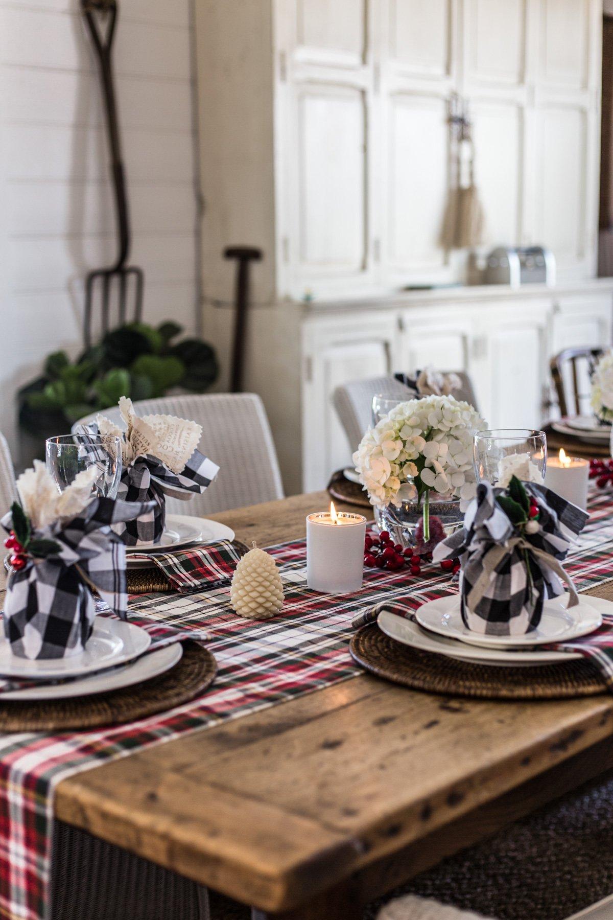 Cottonwood - tartan Christmas table 2018