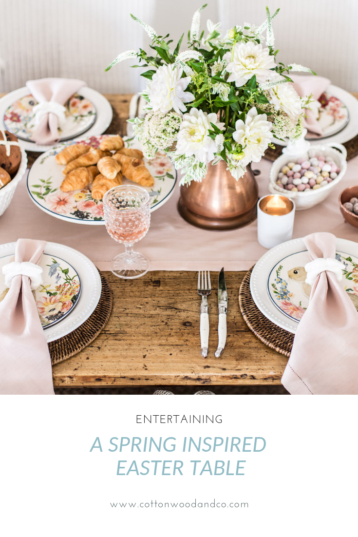 Cottonwood and Co blog easter table setting