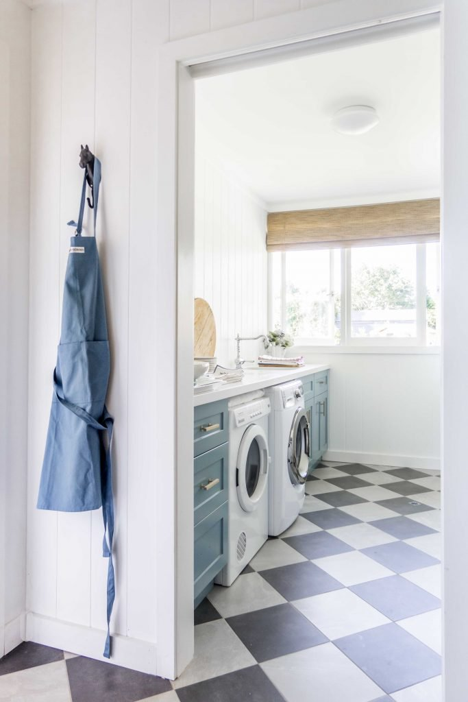 Cottonwood laundry with checkerboard floor