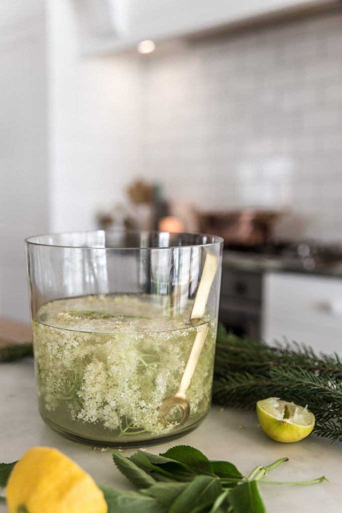 Homemade Keto Elderflower Cordial