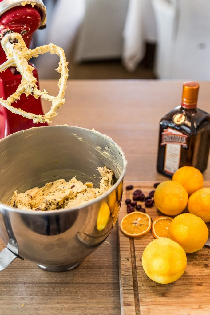 christmas butter ingredients in bowl